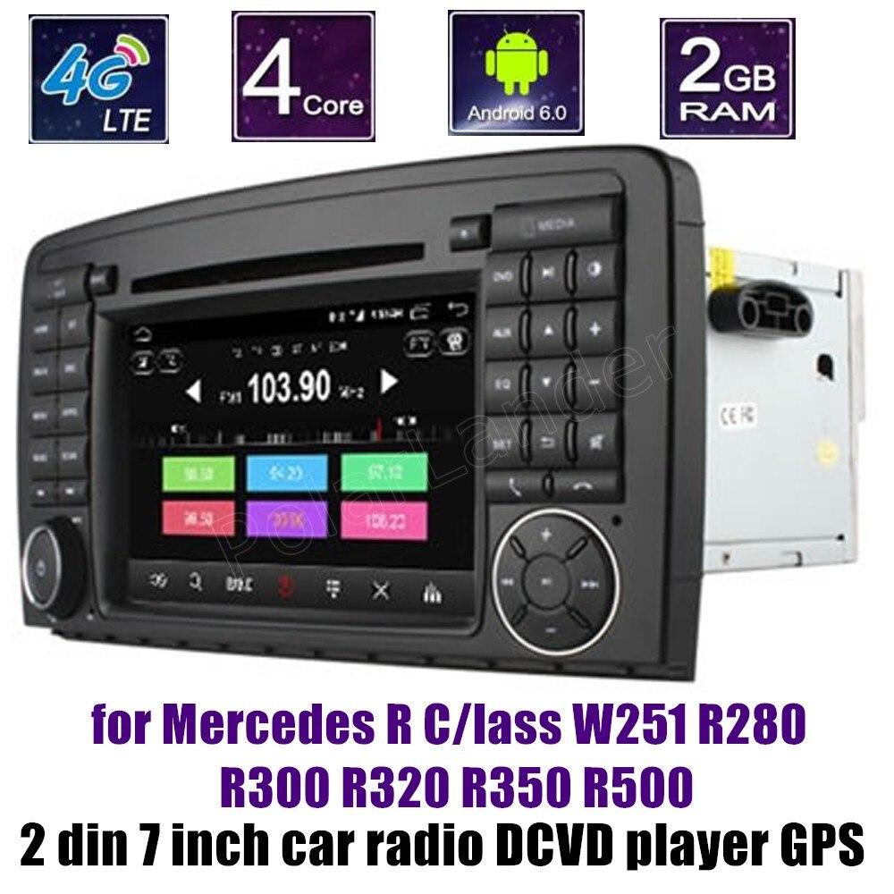 Android 6.0 lecteur DVD de voiture Radio pour B-ENZ R C/indeau W251 R280 R300 R320 R350 R500 7 pouces 2 din Bluetooth