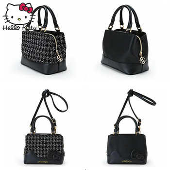 2a65a7cdc Hola Kitty 2019 bolsa bolsas de mano de moda hombro Diagonal bolso precioso  chicas de las mujeres CosmeticTravel de peluche KT