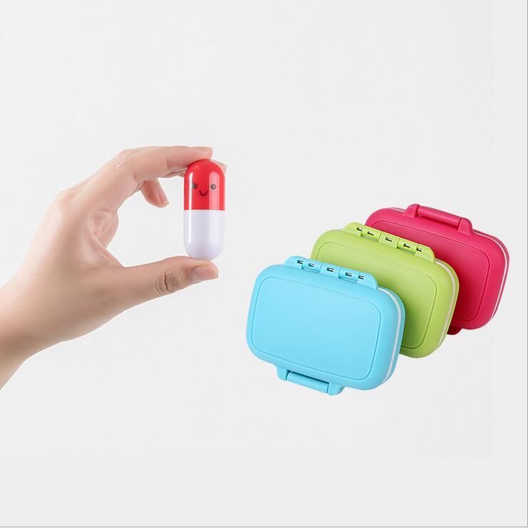 Мини-упаковка коробка ручной три сетки небольшой комплект пластиковая коробка для кнопки ювелирных изделий Коробка для хранения