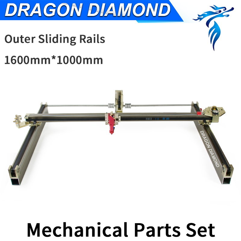 Dragon Diamond Laser Modules Outer Sliding Rails Kits Laser Mechanical Set  1600*1000mm for 1610 CO2 Laser Engraving Machine