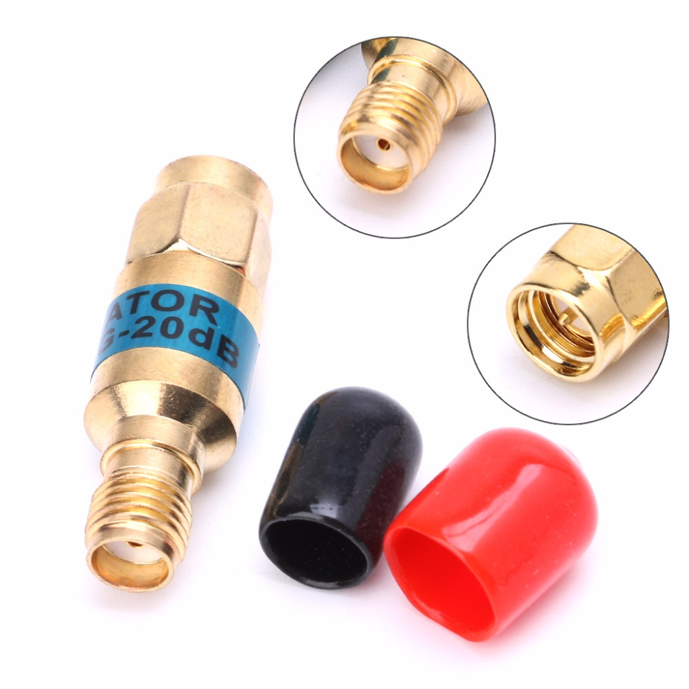 Golden Attenuator SMA-JK Male to Female RF Coaxial Attenuator 2W 0-6GHz 30db