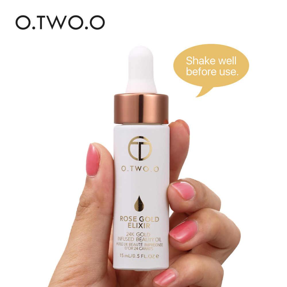 O. DUE. O di Base di Trucco Liquido Primer, base trucco Viso Labbra Cosmetici Rosa Oro Elixir Idratante Facile da Assorbire Olio Essenziale di Viso Make Up