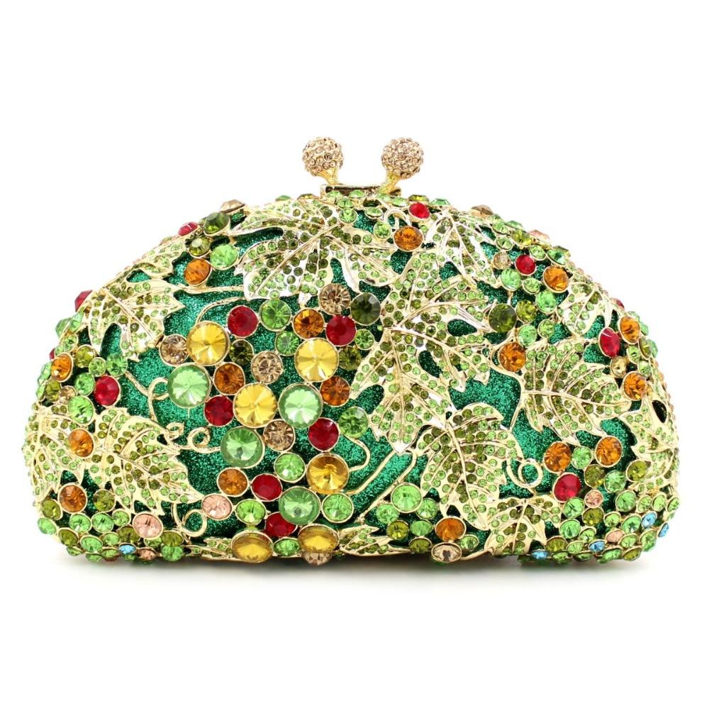 BL023 Luxury diamante evening bags octagon colorful clutch bags women party purse bags crystal sacoche pochette handbags