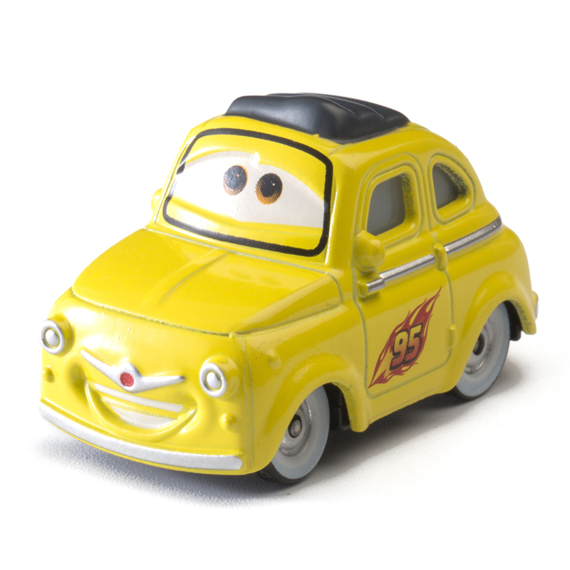Disney Pixar Cars 3 Role Luigi Lightning Mcqueen Jackson Storm Mater 1:55 Diecast Metal Alloy Model Car Toy Children Gift Boys
