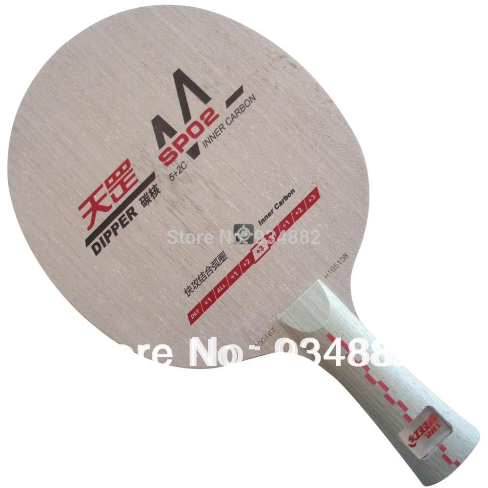 DHS Dipper DM.SP02 (SP 02, SP-02) Shakehand Table Tennis (Ping Pong) Blade Shakehand Long handle FL yinhe earth 4 e4 e 4 e 4 shakehand table tennis ping pong blade