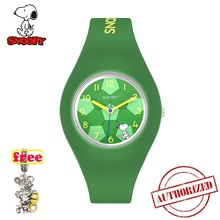 SNOOPY genuine kids watches cute football dial man watch water resistant Sports casual Silica gel clock FIFA 2018