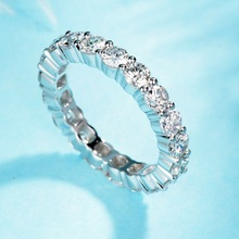 цены 925 Sterling Silver Ring with Full Cubic Zirconia Ring Completely The Real Silver Ring Road Size 5 6 7 8 9 10 with White Zircon