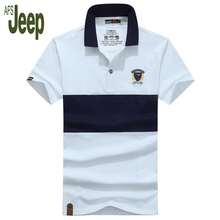 Battlefield Jeep AFS JEEP 2017 new men's polo shirt short-sleeved contrast color patchwork fashion cotton polo shirt 50