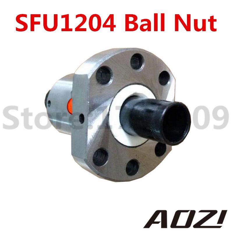 CNC Router Anti Backlash SFU RM 1204 Ball Screw Flange Nut C7 1204 Anti Ball Nut
