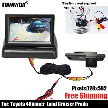 free shipping !!!SONY CCD Chip Car Rear View Reverse Parking Mirror Image CAMERA for Toyota 4Runner / LAND CRUISER PRADO 2010 image