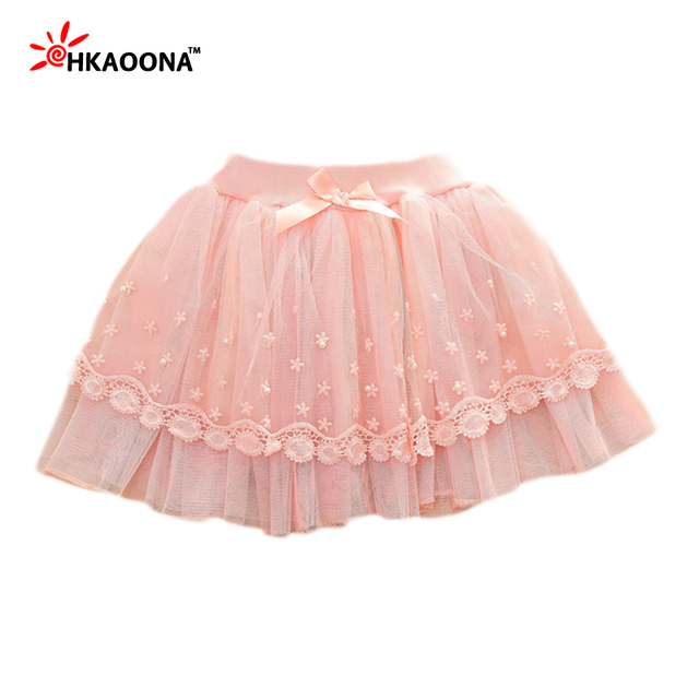New Skirts For Baby Girls Spring Summer Bow Girls Tutu Skirt Children Clothing Princess Lace Pearls Cute Kids Girls Mini Skirt