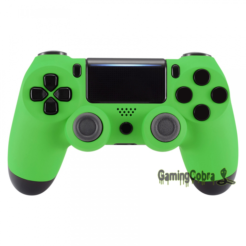 Soft Touch Grip Green Front Housing Shell Faceplate for PS4 Slim / for PS4 Pro Controller (JDM-040 JDM-050 JDM-055) - SP4FX04