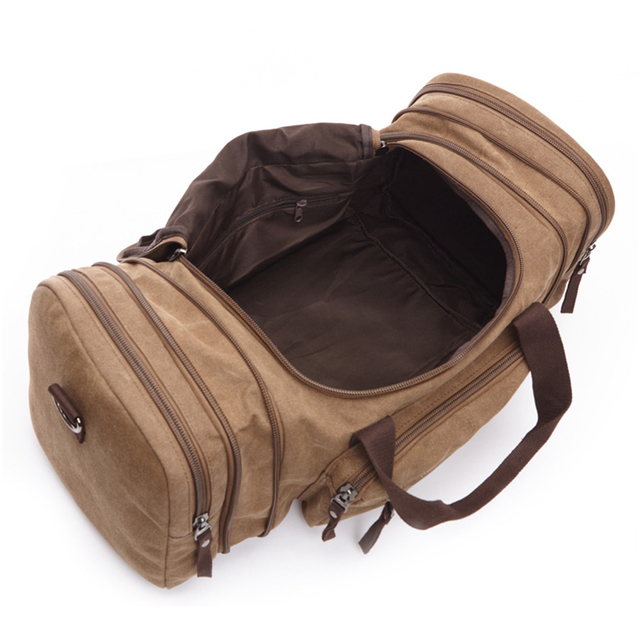 229048f118 Original Z.L.D Canvas Men Travel Bags Carry on Luggage Bags Men Duffel Bag  Travel Tote Large Weekend Bag Overnight high Capacity