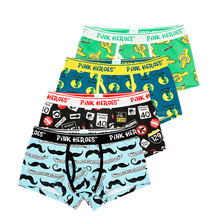 Pink Heroes 4pcs/lot Men Underwear Boxer Mens