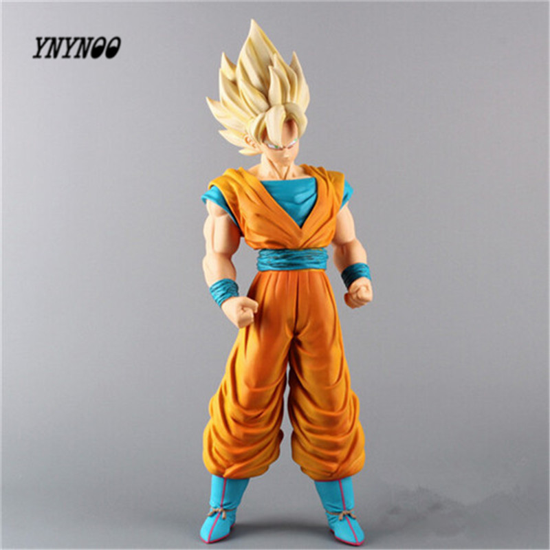 YNYNOO Dragon Ball Z Super Big Super Saiyan Son Gokou PVC Action Figure Collection Model Toy For Kids 17 43cm T31 anime dragon ball super saiyan 3 son gokou pvc action figure collectible model toy 18cm kt2841