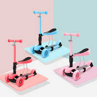 The newest 3 in 1 Scooter for children baby walker removable SEAT three-wheel children adult Kick Scooter folding