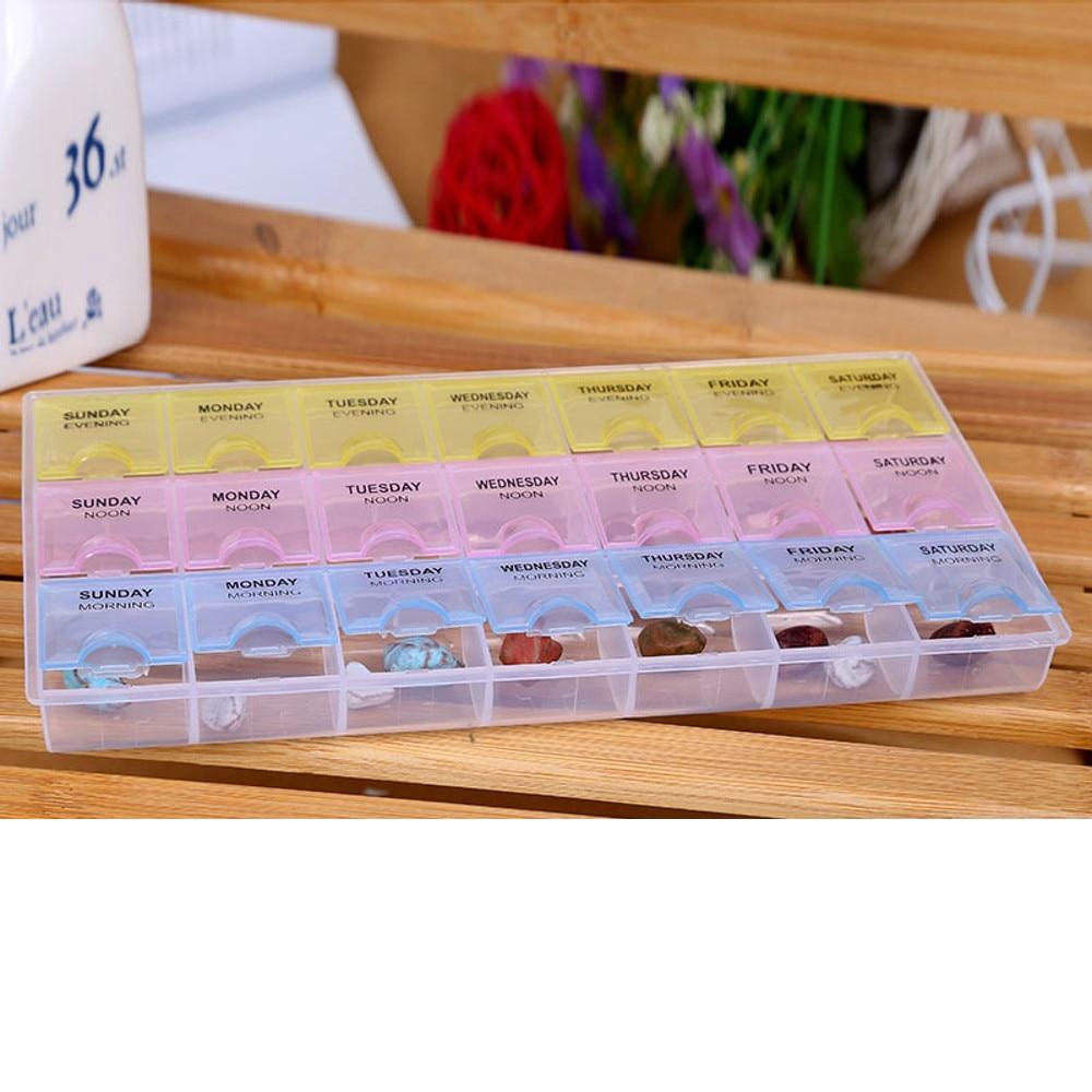 2018 7 Day Pill Box 28 Grids Medicine Tablet Dispenser
