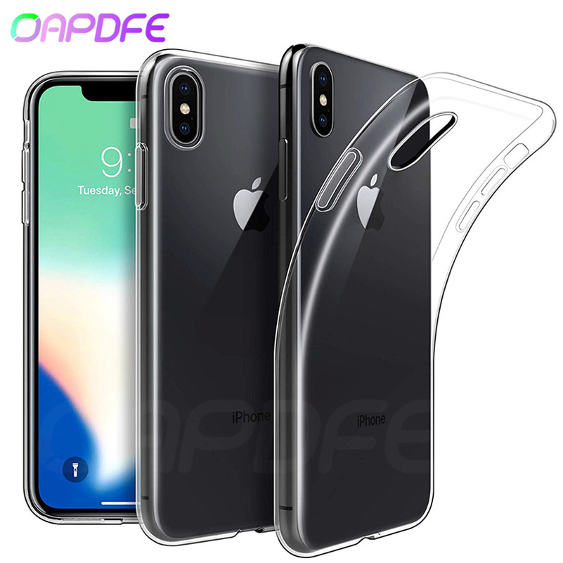 Ultra Thin Soft Transparent Case on the For iPhone X XR XS Max iPhone 8 7 6 6S Plus 5 5S SE Silicone TPU Full Cover Phone Cases