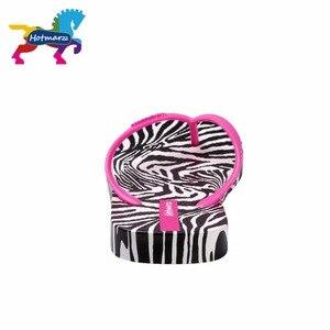 Image 5 - Hotmarzz Frauen Zebra Druck Flip Flops Strand Hausschuhe Sommer Sandalen Slides Slip Auf Flache Sandalen