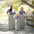 Family Set Plus 4XL Mother Daughter Dresses Mom and Daughter Dress Clothes Family Clothing Parent-Child Set Family Dress WT20