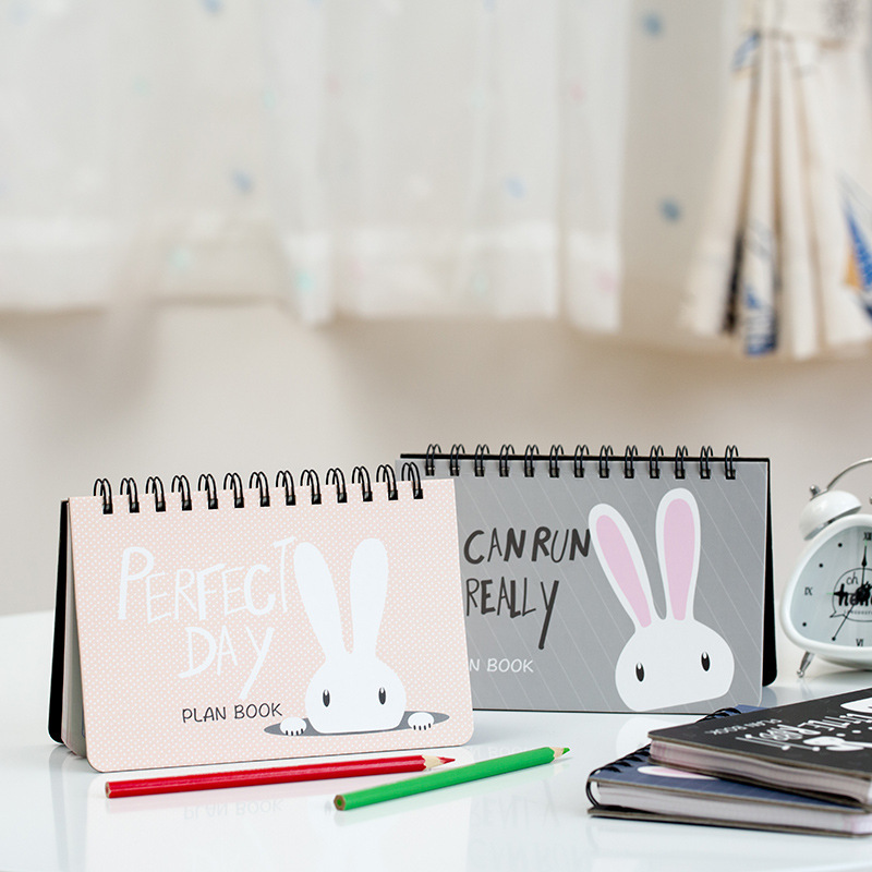 Sweet Bunny Weekly Planner Notebook Coil Spiral Agenda Scheduler Planning Lined Papers Cute Diary color magic b5 big planner agenda scheduler lined papers diary with pen journal study notebook