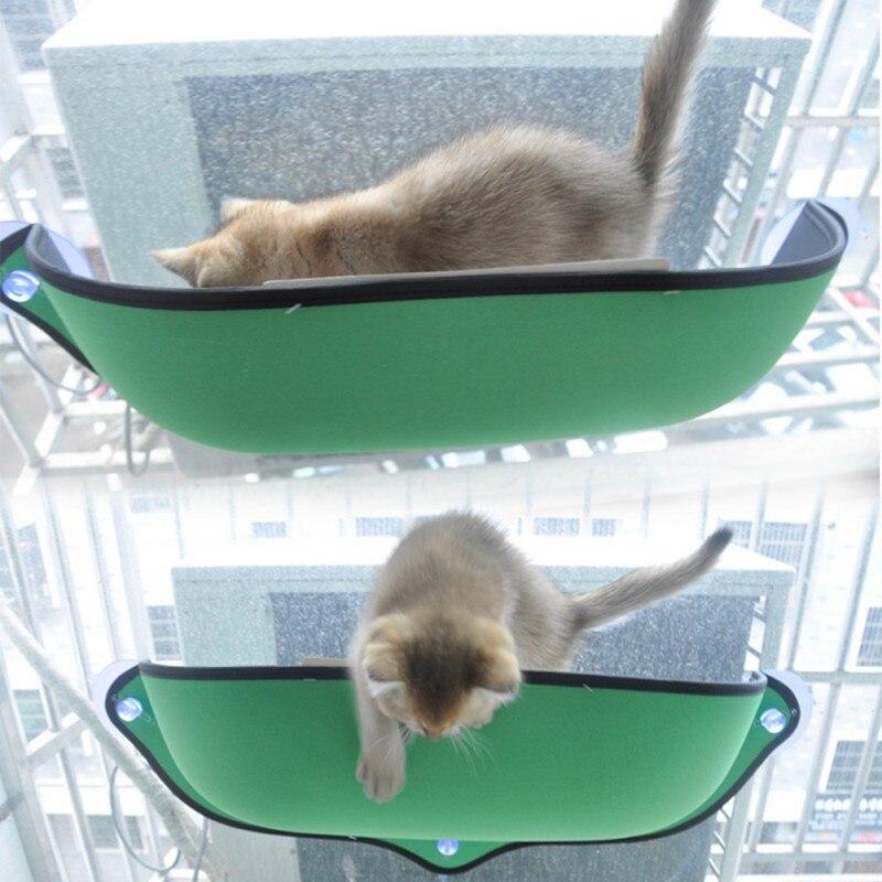Cat Window Mounted Cat Removable Cat Window Bed Sunbathing Hammock Bed Cat Lounger Perch Cushion Hanging Shelf Seat 2018