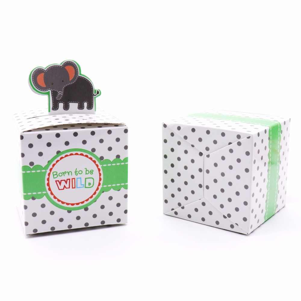 50 pçs/lote Favor Do Chuveiro de Bebê Caixa de Doces Bonito do Teste Padrão Animal Caixas de Cartão de Presente Para O Aniversário de Casamento Festa de Natal Decoração