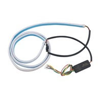 1 Set RGB Colorful Flowing LED Strip For Dynamic Blinkers Tail Light With 6 Lines Ice