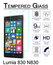 Lumia 830 N830 Tempered Glass Film sFor NOKIA Lumia 830 N830 Screen Protector 2.5D Round Edge 9H Hardness Anti-ShocK Protection стоимость