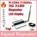 3 G UMTS WCDMA 2100 Mhz repetidor de teléfono celular Amplificador de señal del repetidor del Amplificador Amplificador YAGI 3 G interior y exterior + 10 m Cable