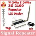 3 G UMTS WCDMA 2100 Mhz repetidor impulsionador do telefone celular repetidor de sinal Amplificador Amplificador YAGI 3 G Indoor e Outdoor + 10 m cabo