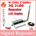 3G UMTS WCDMA 2100Mhz Repeater Booster Cell phone Signal Repeater Amplifier Amplificador YAGI 3G Indoor and Outdoor +10m Cable