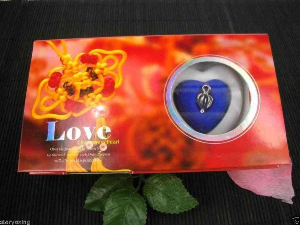 Vente en gros 10 ensemble collier de perles de souhait d'amour ensemble pendentif goutte d'huître 17