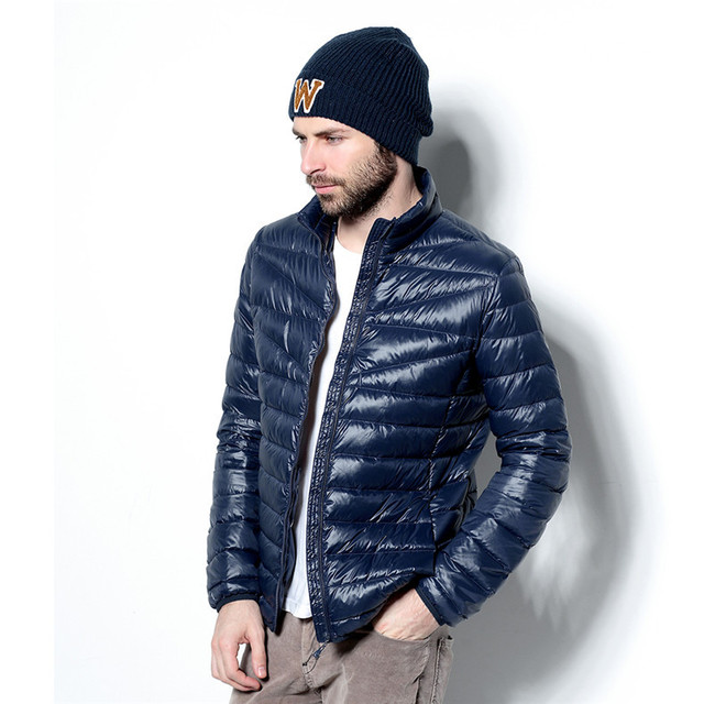 Online Shop winter jacket men 2015 ultra light down jacket duck ...