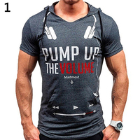 Men Round Neck Tight-fitting Short Sleeve T-shirt Letter Printing Bottoming Shirt New Arrival