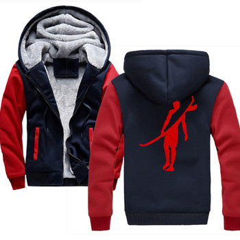Surf Sports 2019 Winter New Tracksuit Men Fashion Thicken Velvet Casual Hooded Warm Thick Hoodie Solid 3