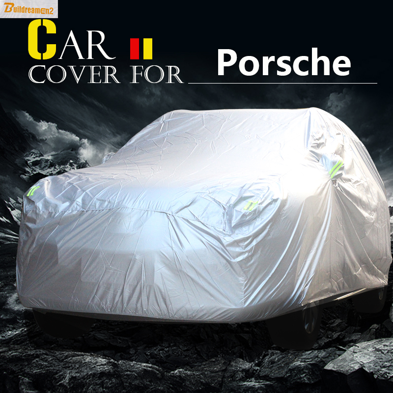 Buildreamen2 Car Cover Outdoor Anti-UV Sun Rain Snow Scratch Dust Resistant Cover Waterproof For Porsche Macan Panamera Cayenne buildreamen2 waterproof car covers sun snow rain hail scratch dust protection cover for mercedes benz gle 350 400 450 300 320
