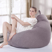 Bean Bag Sofa Lounger Chair Sofa Seat Living Room Furniture EPS Foam Filled Beanbag Bed Bedroom Tatami Pouf Puff Couch Lazy