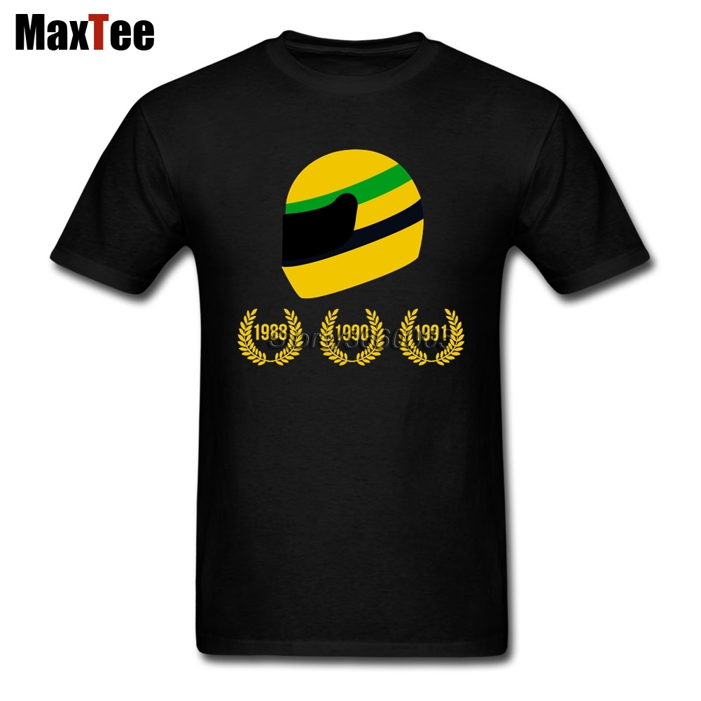 AYRTON SENNA THE 3 TIMES WORLD CHAMPION Tee Shirt Men Boy Demin Custom Short Sleeve Boyfriend's 3XL Team  T Shirts