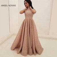 Ангел NOVIAS Abendkleider Высокая шея вечерние платья Дубай Турецкий Арабский кружевное платье для выпускного платья Aibye вечерние платья вечерние п