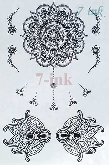 7a92dcce7 ... Waterproof Temporary Tattoos dreamcatcher owl Mandala Mermaid Fairy  scepter Water Transfer flash fake tatto for woman ...