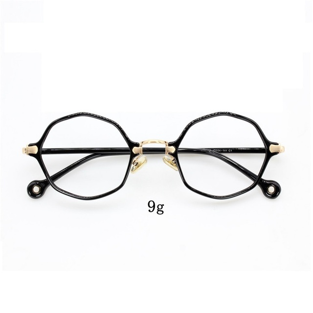 024c2ab99ed7 Cubojue (9g) Ultra Light Women Glasses Women Small Hexagon Eyeglasses  Frames Woman Clear Lens