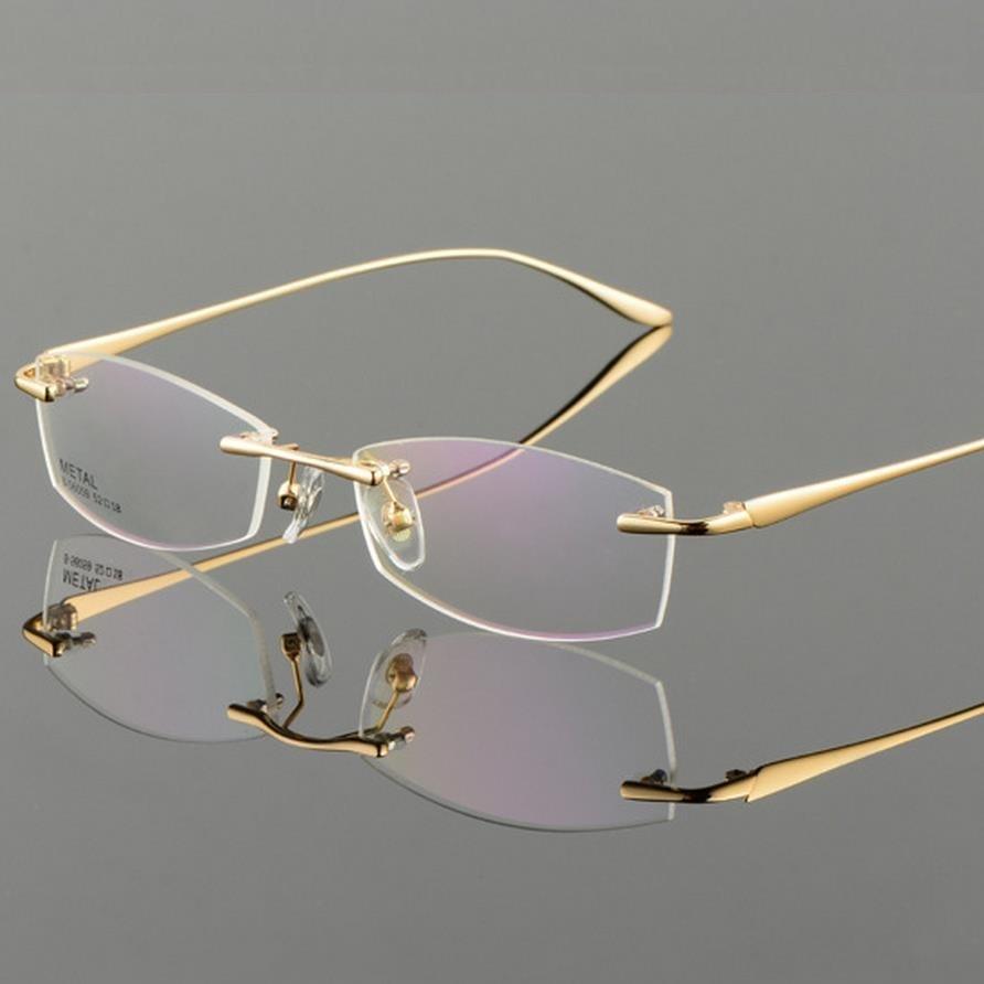 Vazrobe Gold Gläser männer Brillen Rahmen Randlose brille für Rezept ...