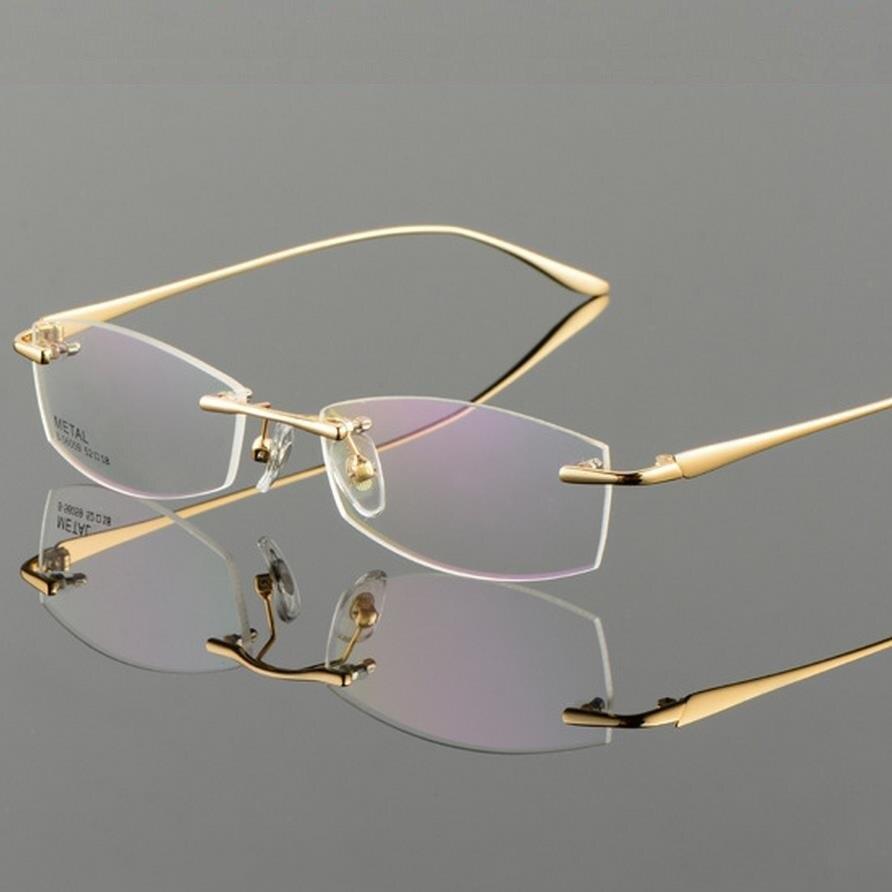 Vazrobe Gold Gray Frame Glasses Men's Eyeglasses Frames