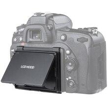 2in1 Protector de pantalla LCD Pop sol sombra Hood cubierta para Nikon D750 DSLR Cámara