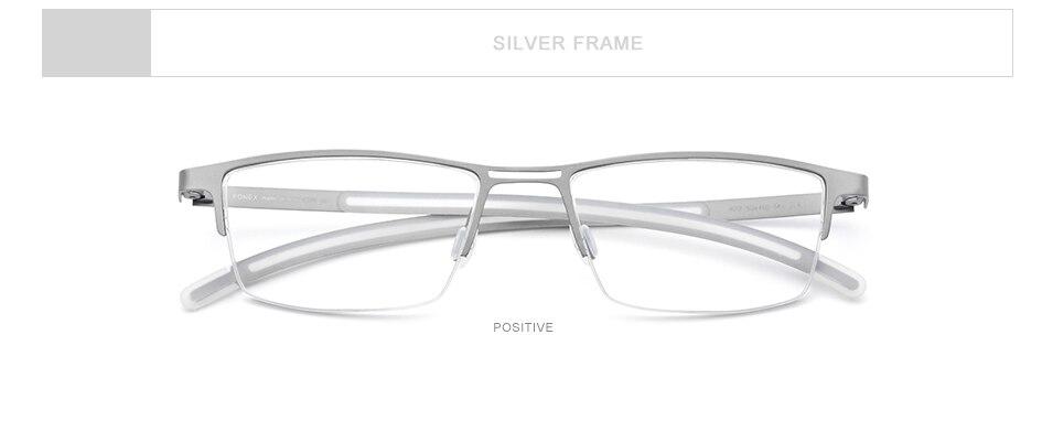 Fonex b titânio óculos quadro men 2019
