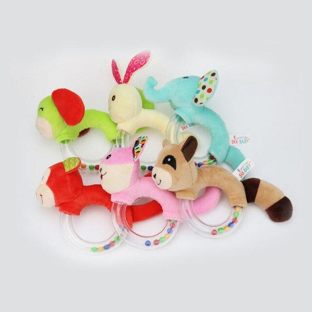 Baby Speelgoed 0-12 Maanden Dier Vorm Baby Rammelaar Hand Bells Leuke Varken Paard Olifant Aap Vroege Onderwijs Speelgoed voor Pasgeborenen 1