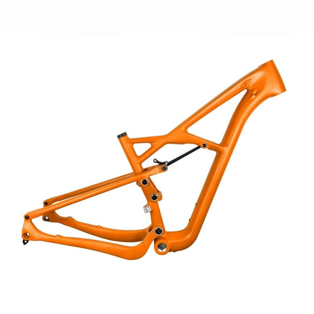 2018 New 29er Full Suspension Carbon Frame 29er T1000 Carbon MTB Mountain Bike Frame 142*12 Thru Axle disc brake frame