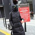 2016 зимняя куртка женщины военная печать парки хлопок вниз в очках свободная посадка пальто средней длины лоскутное плюс размер пальто