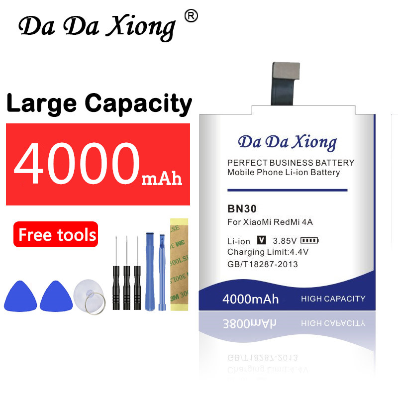 Mobile Phone Parts Cellphones & Telecommunications Earnest Da Da Xiong 4000mah Bn30 Battery For Xiaomi Redmi 4a Clear And Distinctive